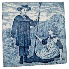"""Wedgwood Blue Calendar Tile for June.  6"""""""