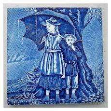 "Wedgwood Blue Calendar Tile for April  6"""