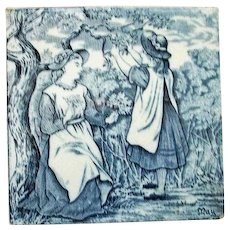 """Wedgwood Blue Calendar Tile for May  6"""" by 6""""."""