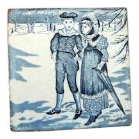 "Wedgwood Calendar Tile February  6"" by 6""."