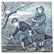 """Wedgwood Calendar Tile for March 6"""" by 6"""""""
