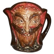 """Royal Doulton Mephistopheles Devil Character Jug D 5758 with Verse Small 3 3/4"""" Tall"""