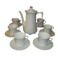 Tirschenreuth Hutschenrwuther Bavaria Germany Baronesse Espresso Coffee Set