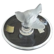 Lalique France Crystal Sparrow Bird Pin Tray