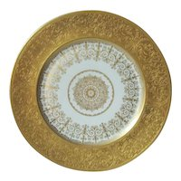 Heinrich & Co. Selb Germany 22K Gold Dinner Plate Decorated In U.S.  Early 1900's  8 Available