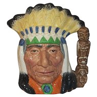"""Royal Doulton North American Indian Special Colourway Edition D 6786  7 3/4"""" Tall"""