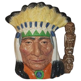 "Royal Doulton North American Indian Special Colourway Edition D 6786  7 3/4"" Tall"