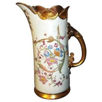 Royal Worcester Pitcher / Urn Hand Painted with Gilt 1229 Butterfly Rim