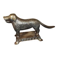 Althoff Cast Iron Mechanical Dog Nutcracker Nickel Plate