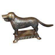 Althoff Cast Iron Mechanical Dog Nutcracker Nickel Plate