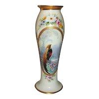 """Limoges Pickard Porcelain Vase Signed Challinor  10 1/4"""" Tall"""