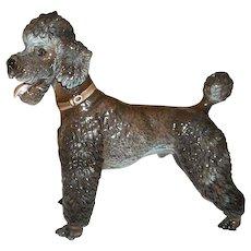 "Rosenthal Black Poodle Figurine by Designed by Karner  7 1/4"" Tall  1211"