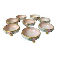 Set of Eight M Z Austria Individual Porcelain Salts