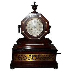 Le Roi A Paris 19th Century Rosewood 8 Day Mantle Clock