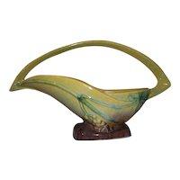 """Roseville Art Pottery Wincraft Green Basket  209-12"""""""