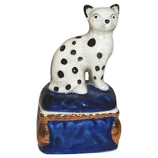 Fitz and Floyd Cat with Spots Trinket Box