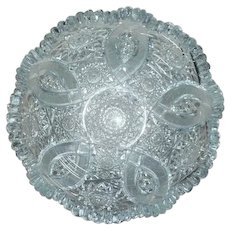 Brilliant Cut Glass Bowl Five Loop Pattern