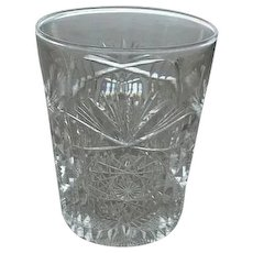 Five Libbey Signed Brilliant Cut Glass Tumblers