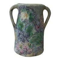 "Weller Art Pottery Vase Silvertone Pattern  7"""