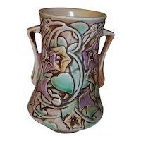 """Roseville Art Pottery  Morning Glory Vase 6"""" Tall"""