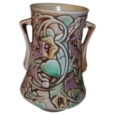 "Roseville Art Pottery  Morning Glory Vase 6"" Tall"