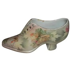 "Royal Bayreuth Porcelain Tapestry Shoe  2 1/2"" Tall"