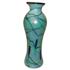 """Fenton Art Glass Hanging Hearts Vase  Dave Fetty Limited Edition  13 1/2"""" Tall"""