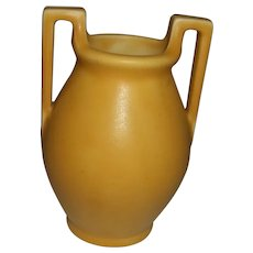 "Rookwood Yellow Vase Handled  2558  4 3/4"" Tall"
