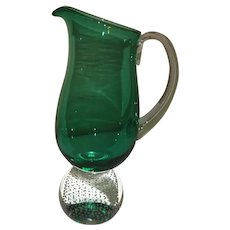Pairpoint Erickson Green Controlled Bubble Pitcher