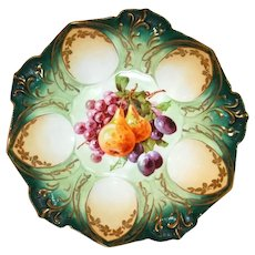 "R S Prussia Large Bowl Hand Painted Fruit  10 1/2"" Wide."