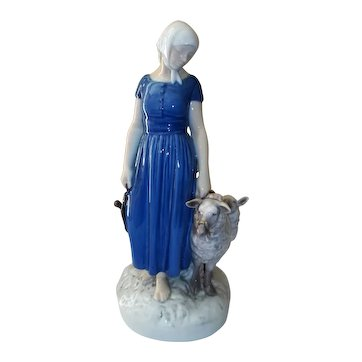 "Bing and Grondahl Shepherdess Figurine Signed  11"" Tall  2010"
