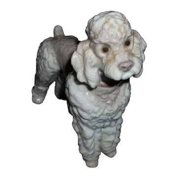 """LLadro Wooly Dog Poodle Figurine. 6"""" Tall"""