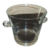 """Tiffany Crystal Scroll Handle Ice Bucket  6 1/4"""" Tall"""