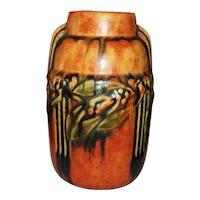 """Roseville Pottery Laurel Vase  6 1/2"""" Tall"""