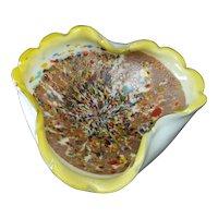 "Murano Glass Millefiori Bowl   9 1/4"""