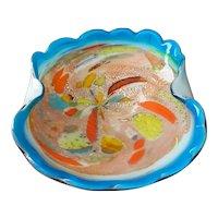 """Murano Glass Tutti Frutti Bowl  9 1/2"""""""
