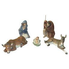 LLadro Large Nativity Scene   5 Piece  5476,5477,5478,5482,5483
