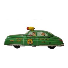 Marx Toy Dick Tracy Friction Car  Rare Color
