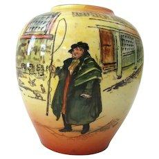 "Royal Doulton Dickens Ware Tony Weller Cabinet Vase D 5175   4 1/4"" Tall"
