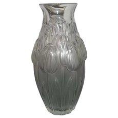 Lalique Crystal Tulip Vase