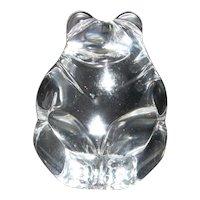 Steuben Art Glass Crystal Bear Paperweight or Hand Cooler