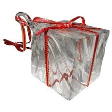 Steuben Crystal Christmas Gift Box Ornament Original Box