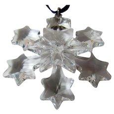 Swarovski Crystal Christmas Ornament Snowflake with Box