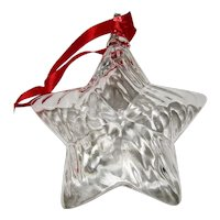 Steuben Crystal Christmas Holiday Star Ornament with Box