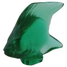 "Lalique Glass Fish Figurine 1 3/4"" Tall"