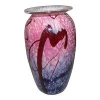 """Eickholt Glass Vase  6 1/2"""" Tall"""