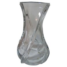 """Baccarat Crystal Vase Serpentine Pattern  10""""  with Box"""