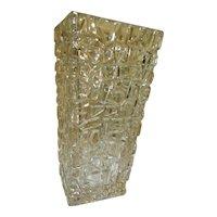 "Tiffany Crystal  Sierra Vase  9 1/2"" Tall  with Box"