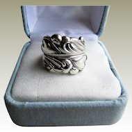 Towle Sterling Silver 925 Romantic Spoon Ring-Hearts