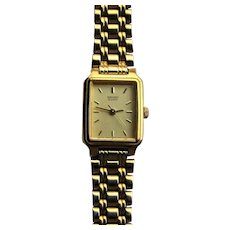 Seiko Ladies Rectangular Dress Bracelet Watch.